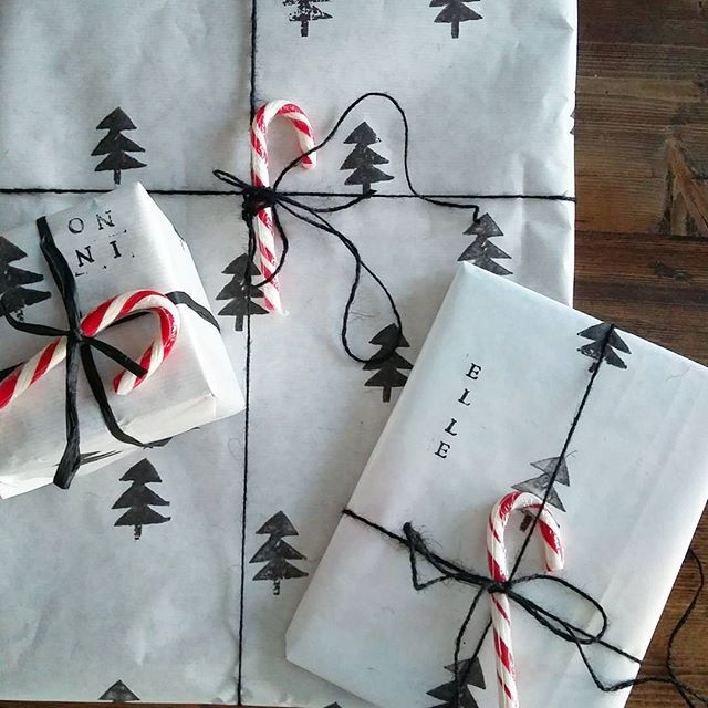 Joulun salaisuudet itse painetuissa kääreissä❤#talvi #joulu #sisustus #joululahja #inspiroivakoti #interiør #decoration #interior4all #jul #gift #giftwrapping