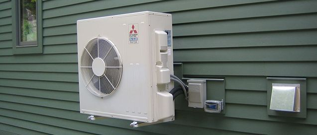 A ductless Heat Pump / Air conditioner is a system that circulates cool/hot air in a building without ductwork. These systems are an affordable alternative to central heating, ventilating, and air conditioning (HVAC ) systems, which need a network of ducts to move air. Ductless systems are generally considered to be more efficient and easier to maintain than window air conditioners. Read more here: http://ecicomfort.com/the-many-benefits-of-ductless-split-systems/
