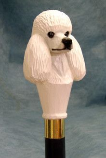 Poodle Dog Walking Stick Our unique selection of handpainted Dog Breed Walking Sticks is sure to please the most discriminating Dog Lover! Be the envy of everyone with this unique canine walking stick