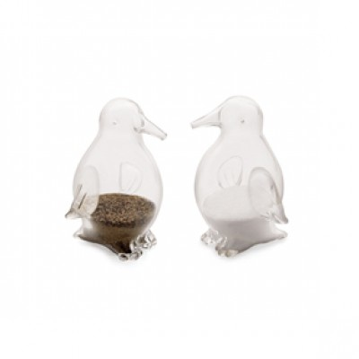 The Perfect gift, Glass Penguin Salt & Pepper Shakers, $19.99 from www.selecthomeaccents.com- FREE shipping and gift boxed.