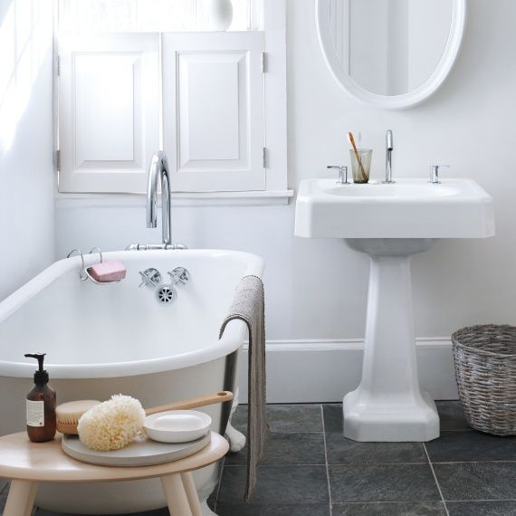 Spring Cleaning 360°: The Bathroom It's a spot with a split personality: You quickly wash up or luxuriate in the bath. Either way, you want it sparkling clean. Click through for more.