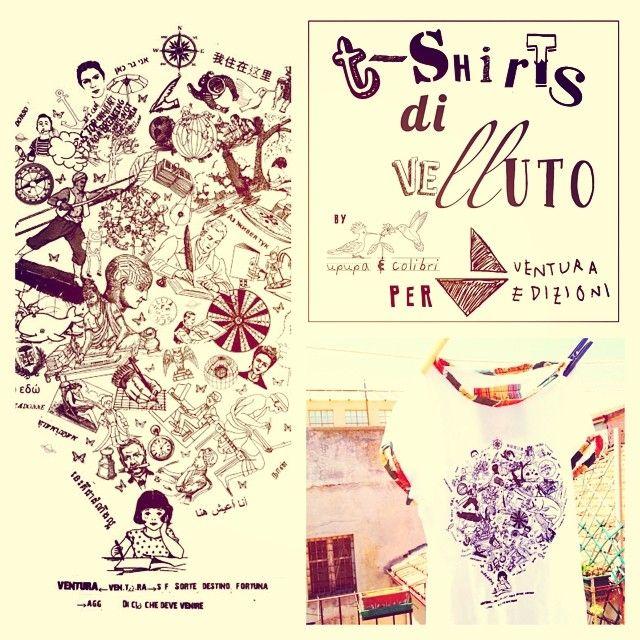 """""""T-shirts di velluto"""" per Ventura Edizioni."""
