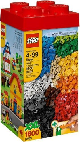 NEW-Factory-Sealed-LEGO-XXL-1600-Pieces-Creative-Tower-10664-Damaged-Box