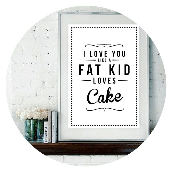 Fat Kid Cake Prints
