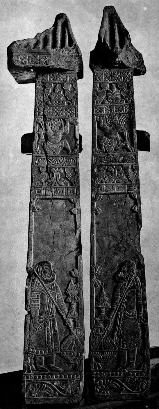 End views of Frontals of a Sogdian Mortuary Couch