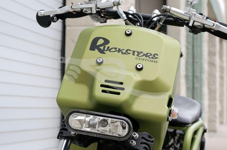 """Ripple"" Custom Honda Ruckus"