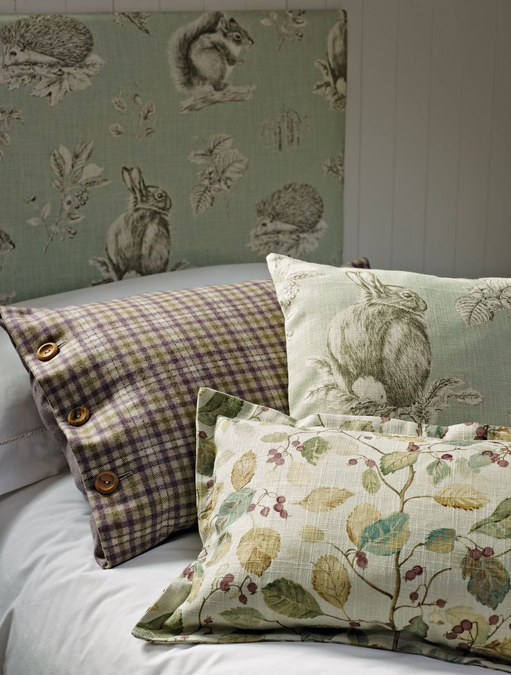 Sanderson Fabric - Woodland Walk Collection. All the elements of the collection work together harmoniously to create a sophisticated, modern country style.