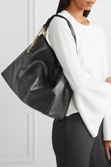 Karl Lagerfeld - K/slouchy Leather Tote - Black
