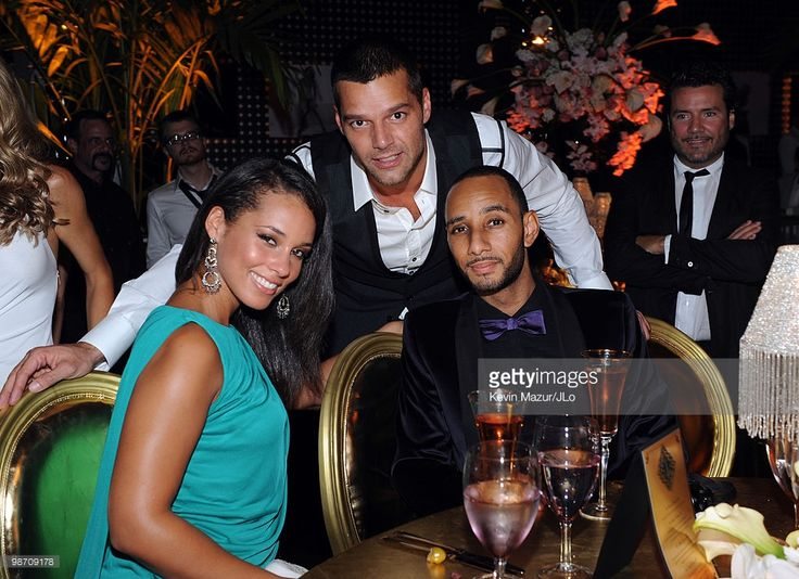 COVERAGE* Alicia Keys, Ricky Martin and Swizz Beatz attend Jennifer Lopez's Surprise Birthday Party at the Edison Ballroom on July 25, 2009 in New York City.