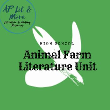 This full unit for George Orwell's Animal Farm takes a differentiated approach to studying the novel. It contains many different assessments and allows students to choose the homework they'd most enjoy completing. It was designed for my 10th grade class, but could be used in grades 9-12.
