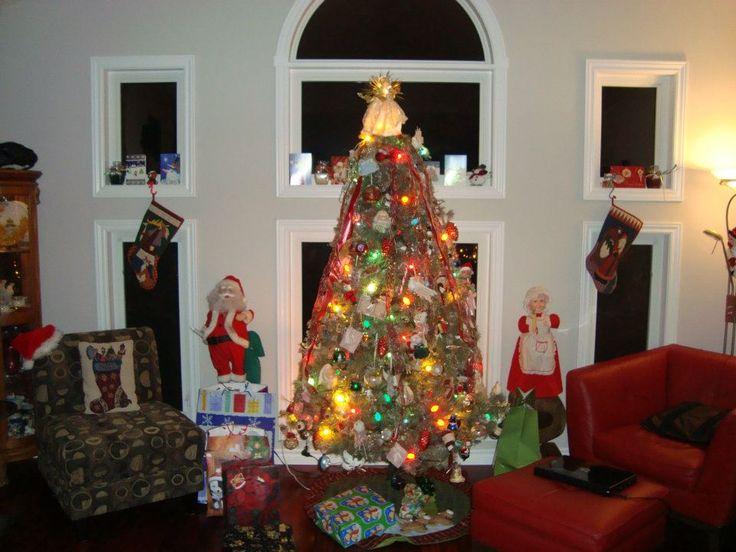 Christmas tree with Mr. and Mrs. Santa