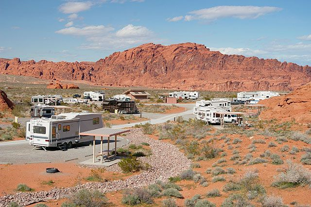 Overton NV - Valley of Fire State Park: picnicking, visitor center, hiking, rock climbing, camping, RV camping