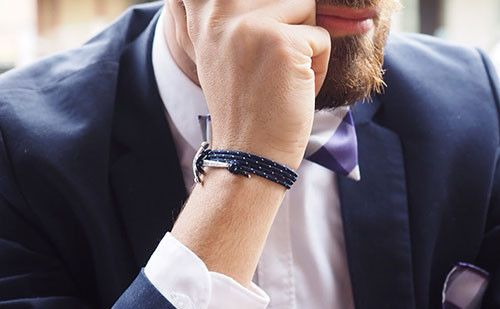 Mix your suit up with a Conrad to add that extra flair! #rope #bracelet #accessories #menswear  Check out this: http://dappervigilante.com/
