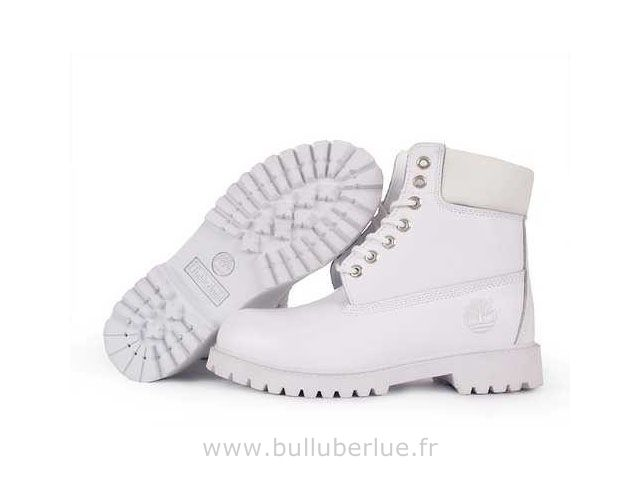 Blanc Timberland Pas Cher 6 Inch Bottes femme