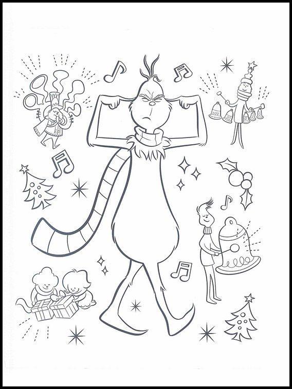 Der Grinch 5 Ausmalbilder für Kinder. Malvorlagen zum ...