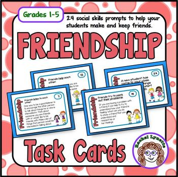 Free - Friendship Cards Social Skills Prompts