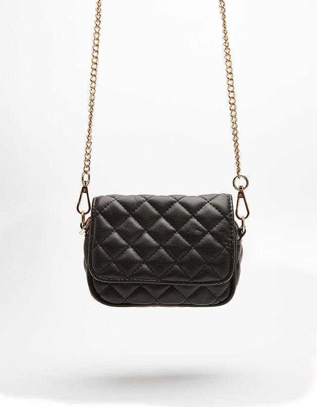 Chain Quilted Crossbody Bag from Bershka £17,99