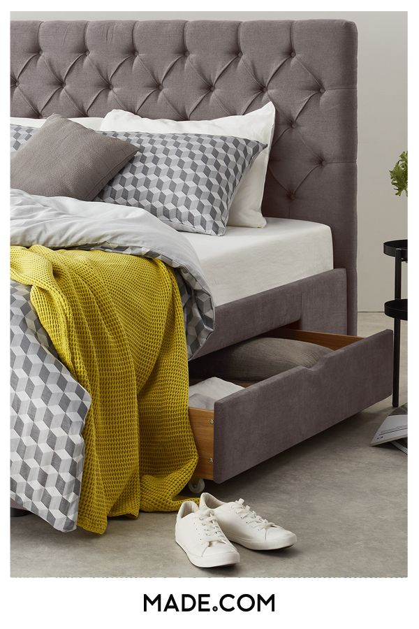 fb379a1934fb You spend a third of your life sleeping – spend it well with Skye. This  upholstered bed sets an elegant tone for your bedroom with it's tall,  button-backed ...