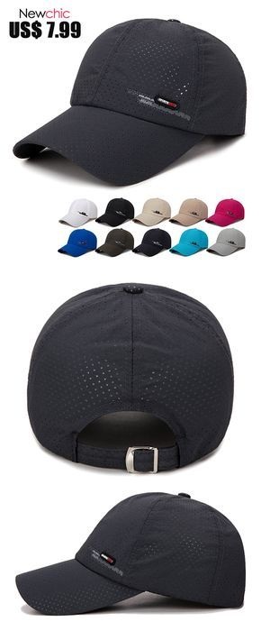 eaf80ec9c [$7.99]Men's Summer Breathable Adjustable Mesh Hat Quick Dry Cap Outdoor  Sports Climbing Baseball Cap #caps #outdoor #baseballcap