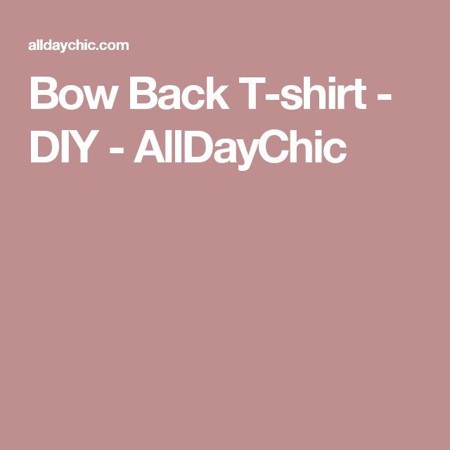 Bow Back T-shirt - DIY - AllDayChic