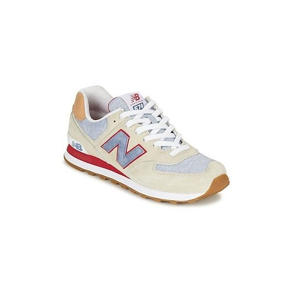 New Balance ML574 Shoes (Trainers) (1.405 ARS) ❤ liked on Polyvore featuring