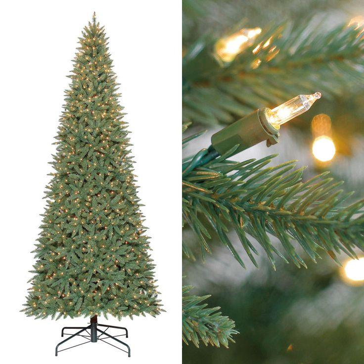 7ft PreLit Artificial Christmas Tree 300 Clear Lights Xmas Pine Decoration Stand #MassMarket