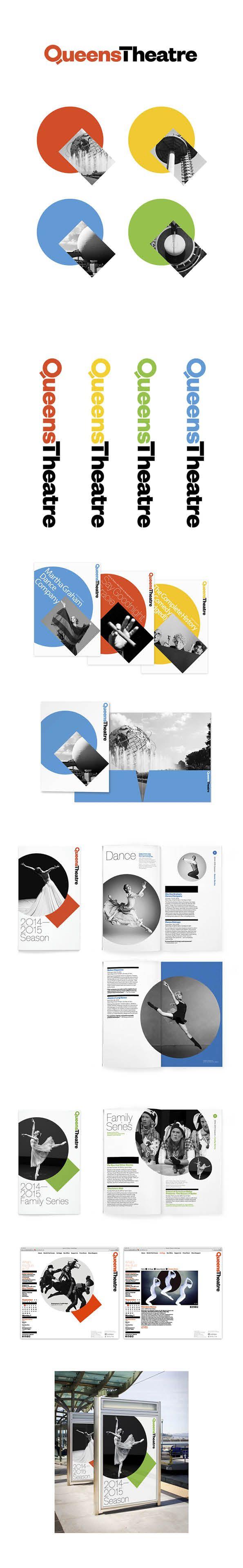 More corporate-designs are collected on: https://pinterest.com/rothenhaeusler/best-of-corporate-design/ · Client: Queens Theatre · Agency: Pentagram #branding #identity #corporatedesign