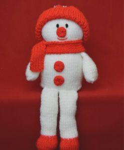 snowman on shelf  knitting pattern