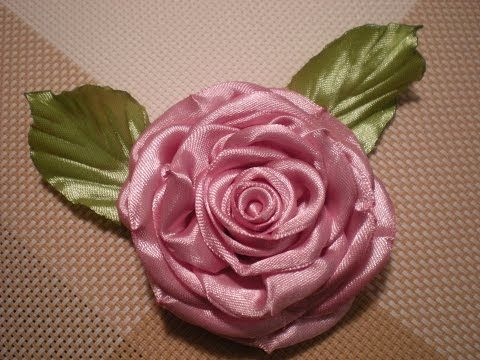 Роза из атласных лент Канзаши / Своими руками. Видео./Rose ribbons - YouTube