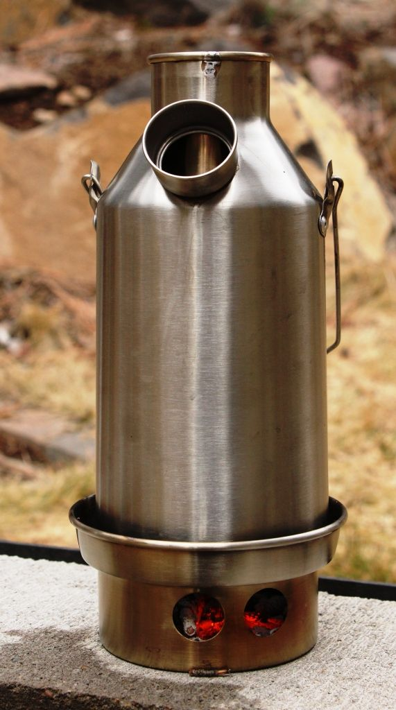 trekker lighted: The Trekker holds 19 ounces of water and can boil it very quickly. (Pantenburg photo)