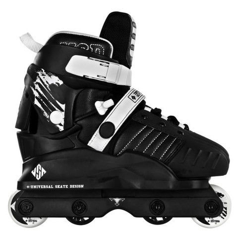 USD Transformers Black Aggressive Junior Inline Skates