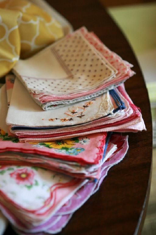 hankies - My mom would send my lunch money to school tied up in the end of a hankie.