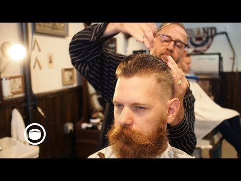 Eric Bandholz Gets a Short Pompadour With a High Fade and Side Part - YouTube