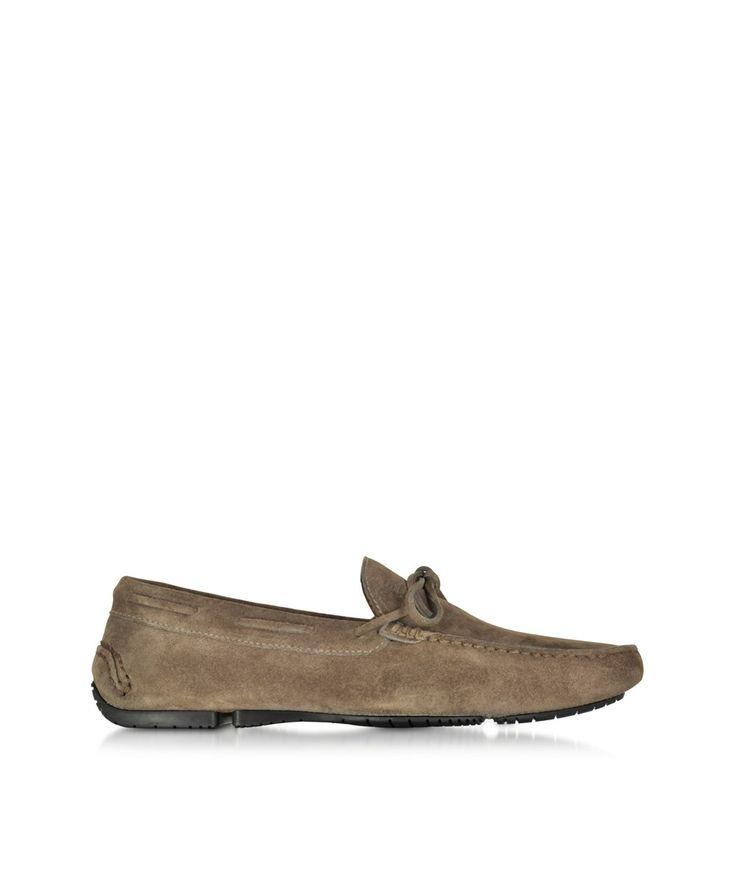 FRATELLI ROSSETTI Fratelli Rossetti Men's  Brown Suede Loafers. #fratellirossetti #shoes #