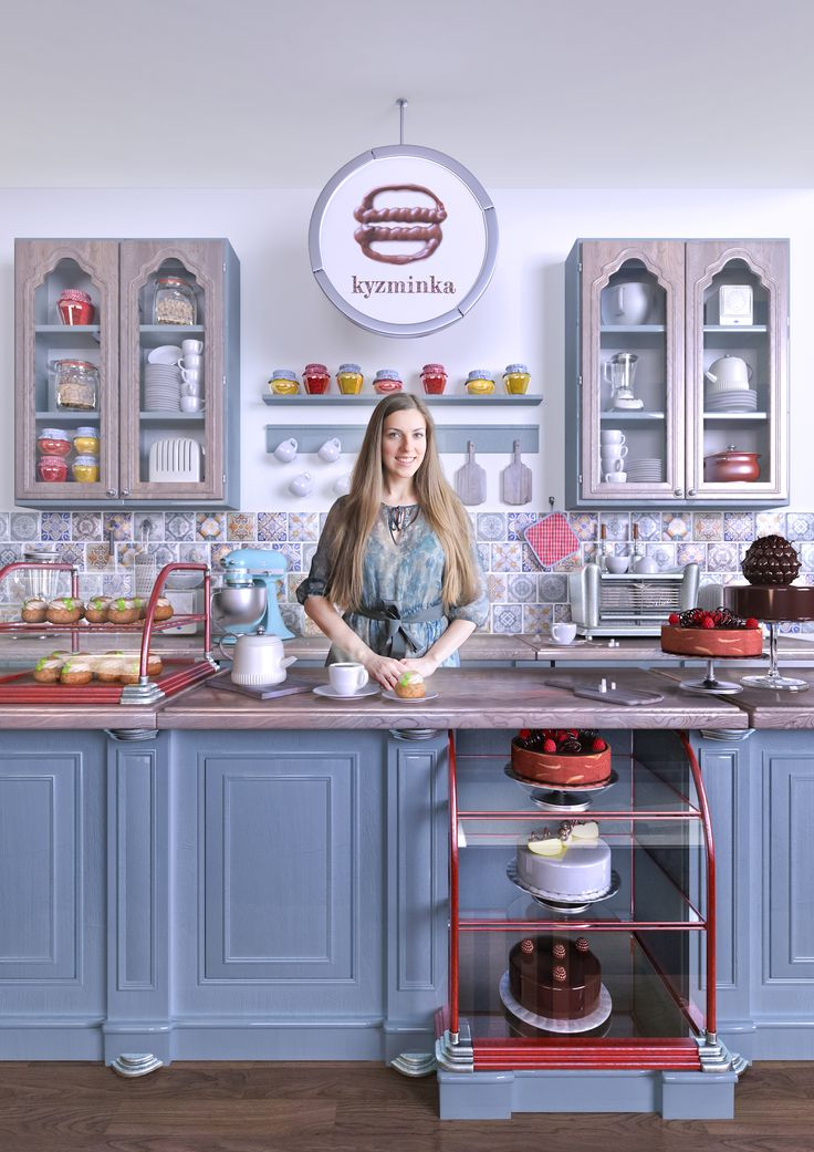 Kyzminka patisserie   photo of owner in 3d environment. more information https://www.behance.net/gallery/24766899/Kyzminka-patisserie
