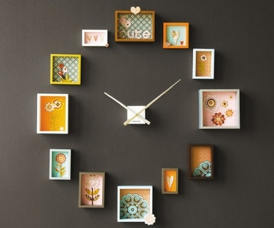 Small pieces of Art used together to create large wall art - Clock