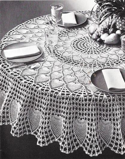 round pineapple table cloth