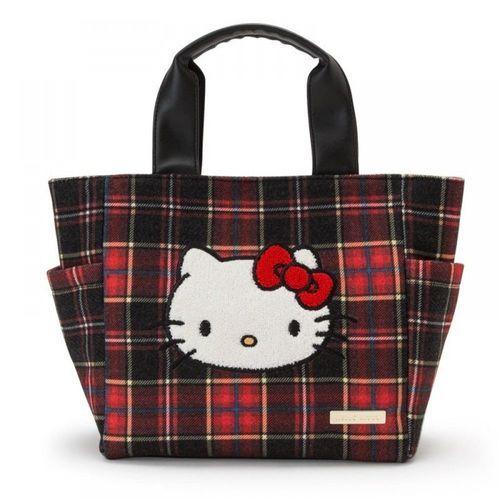 22d57a337 Hello Kitty Tartans Tote Bag - sakuraya japan kawaii fashion #hellokitty  #tartans #totebag