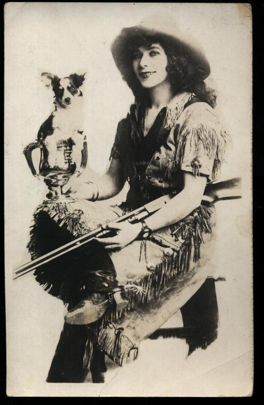 Western Sharpshooter Women Real Photo Postcard! Antique and Vintage Postcards on Ruby Lane $45