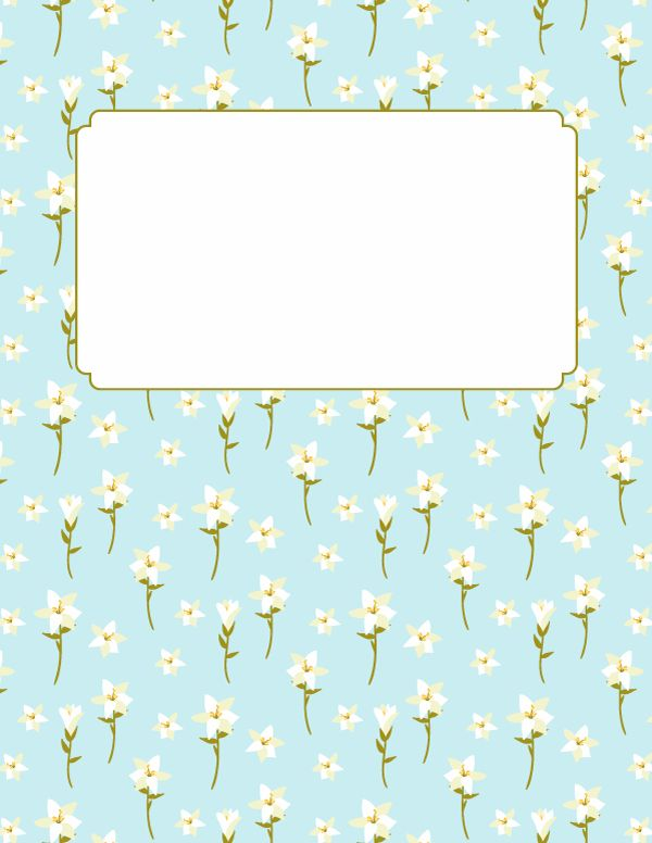 Free printable Easter lily binder cover template. Download the cover in JPG or PDF format at http://bindercovers.net/download/easter-lily-binder-cover/