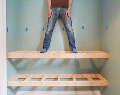 DIY Floating Wood Shelves! | Yellow Brick Home | Bloglovin'