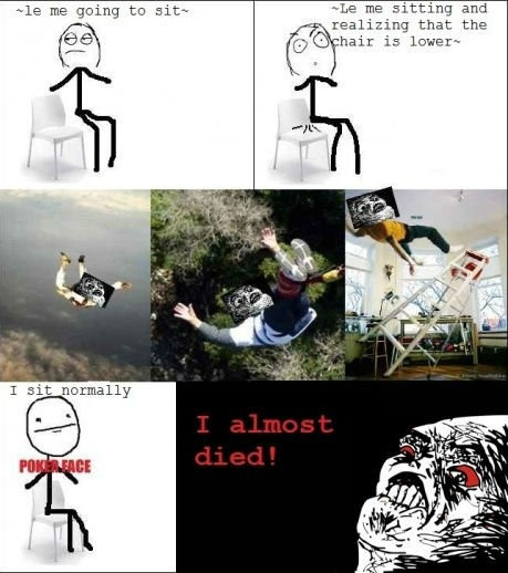 When I almost Died. - Posted in Funny, Troll comics and LOL Images - Mix Pics