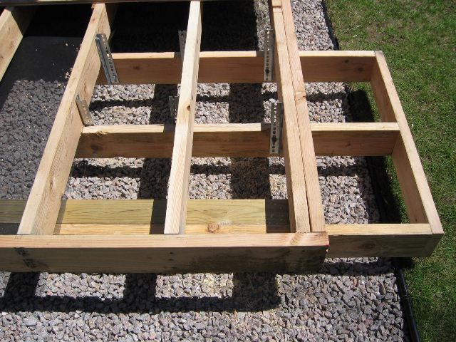 Ground Level Deck Single Step Decks Amp Fencing
