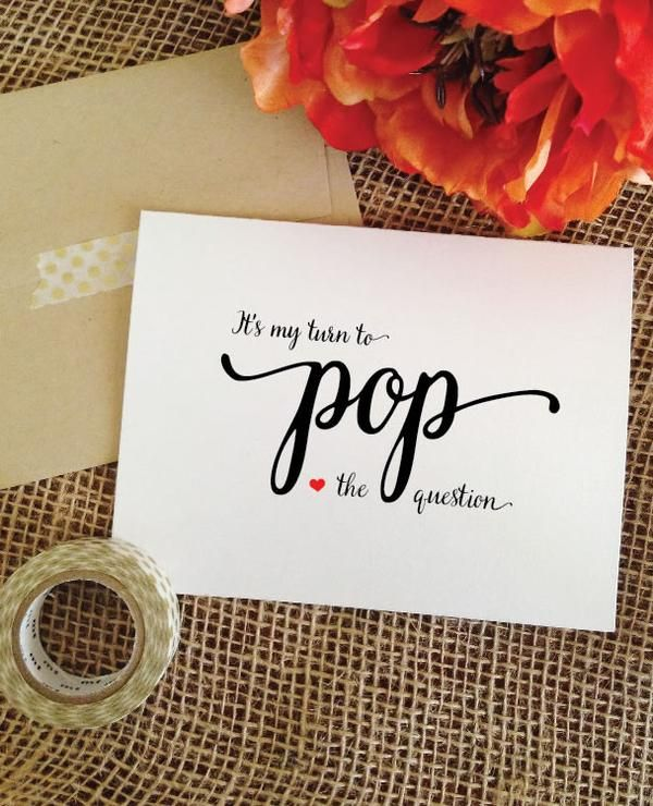Bridesmaid Proposal Ideas - It's my turn to pop the question - Personalized will you be my bridesmaid cards
