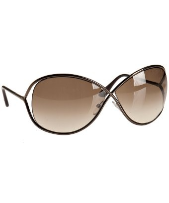 Want! Tom Ford dark coffee brown 'Miranda' sunglasses | BLUEFLY up to 70% off designer brands