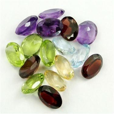 32 Ct Amethyst, Citrine, Garnet, Blue Topaz, Peridot Mix Gemstones Lot