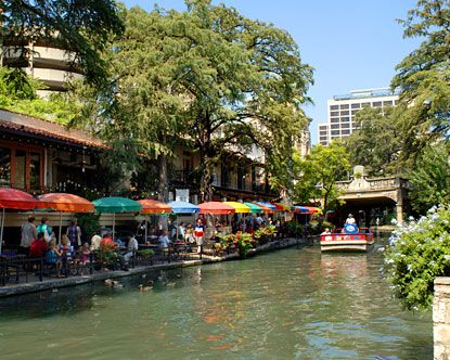 San Antonio river walk. more like a canal but lovely connection to the water...