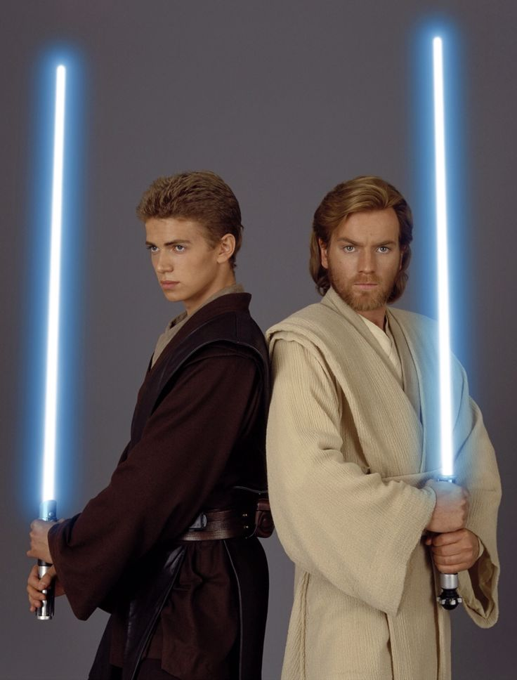 Anikan Skywalker and Obi Wan Kenobi, the best Master and Padawan duo ever!