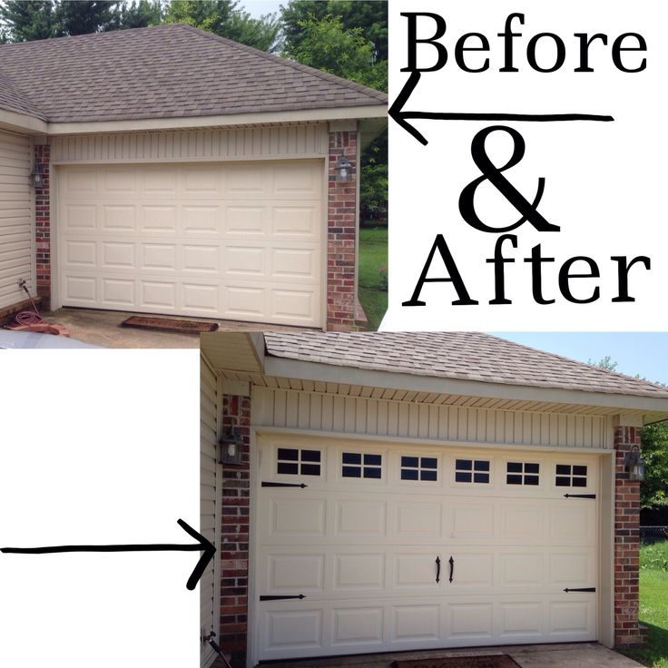 fast and easy way to dress up the garage door and add curb