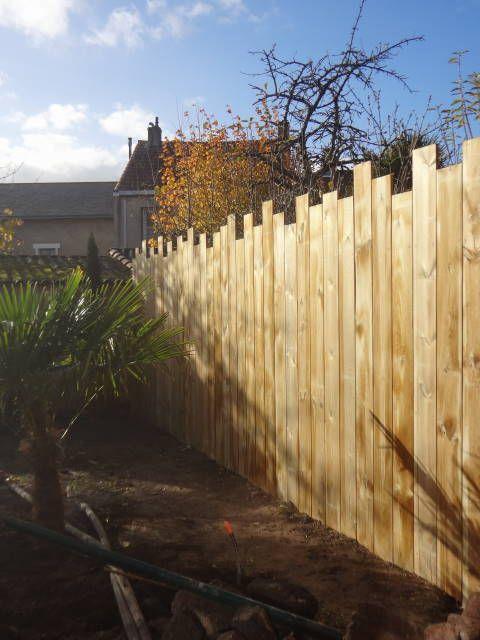 Clôture bois en pin traité pose verticale en espalier